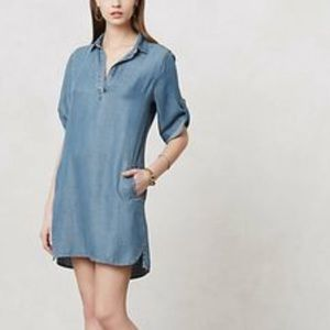 Cloth and Stone Chambray Collared Pockets Dress